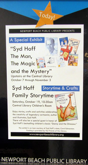 Exhibit Poster for Syd hoff Exhibit at Newport Beach Public Library